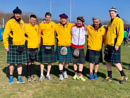East Kilbride Tartan Army. It wouldn't be XC without them boyz. (Photo by Karen Mitchell).