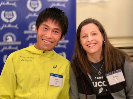 Yuki Kawauchi of Japan was the 2018 winner, Krista Duchene of Canada was third overall and top master among the women. Both might be hoping for wicked weather again in 2019, as they both thrive in bad conditions. (Photo by Karen Mitchell).