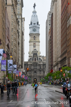 """The iconic photo of every Broad Street Run, is the one with City Hall looming behind the leaders. One of the staff used to call it """"the money shot."""""""